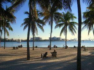 Miami sunset beach - homeland of interstate moving companies Miami