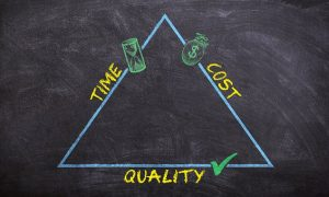 Triangle - time, cost and quality