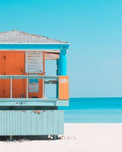 Lifeguard house on the beach