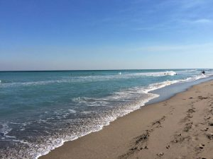 Top places for families in South Florida. Beach and the sky.