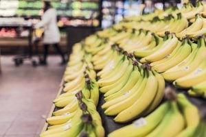 Bananas in grocery store