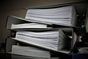 Documents in file folders