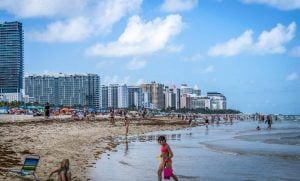 Top places for families in South Florida, Beach, children, buildings.