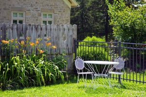 What kind of storage should you use? Table and chairs in garden.