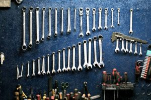 You don't need to work hard to organize your tools. Make some holes in the wall and put in some screws and you have a tool rack