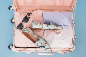 Clothes in suitcase