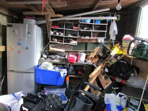 Cluttered room needs to be cleaned out if you want to increase your apartment value