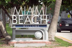 Miami Beach is one of the most eventful Miami neighborhoods, even it welcome board shows it