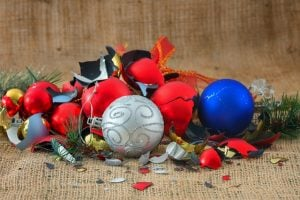 Broken Christmas ornaments