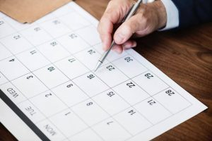 Asegúrate de organizar un calendario para tu mudanza.