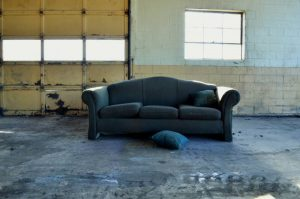 Find warehouse space in FL- A couch in the warehouse