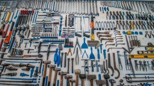 Maintaining your rental apartment in Miami- tools on the table