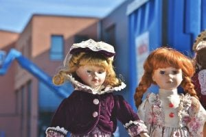 Take extra care with porcelain dolls when packing children's toys