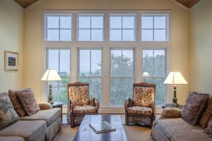 huge windows in the living room