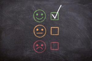 three emojies in color