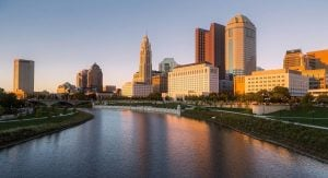 Image of Columbus Ohio as a place where young professionals move to