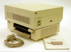 leave behind when moving an office- an old apple printer