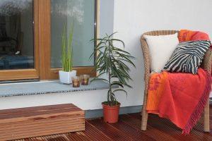 Plants on a terrace