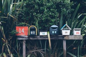 six mail boxes