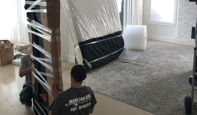 Miami Movers For Less packing furniture
