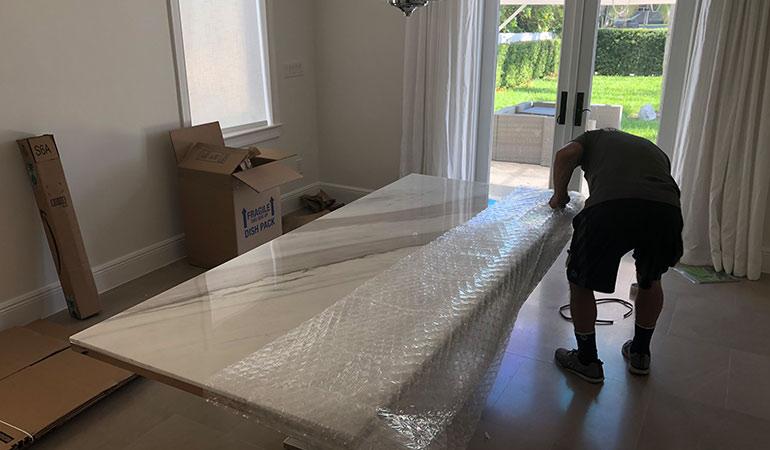 Packing a mattress