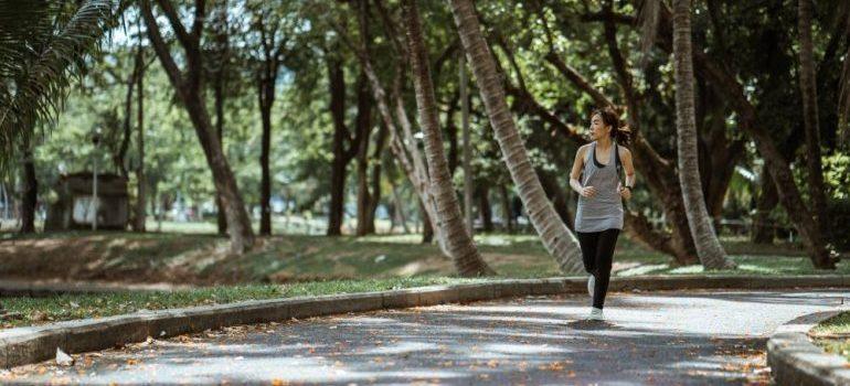 People in Coral Springs jogging