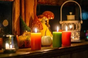 a comfort zone full of candels