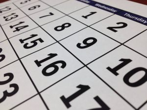 A calendar as a part of long distance moving mistakes guide