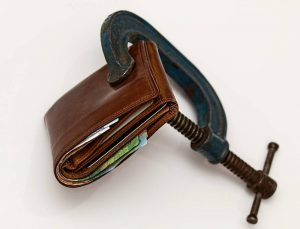 wallet and a clam