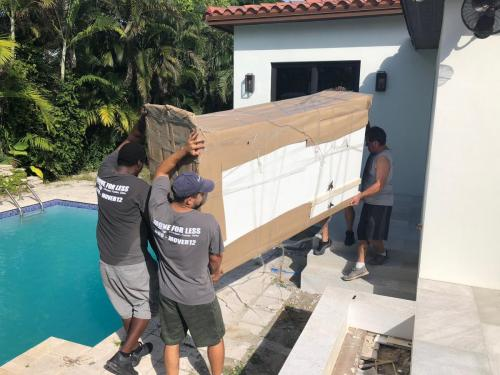 Our furniture movers Miami know their way around all types of furniture.
